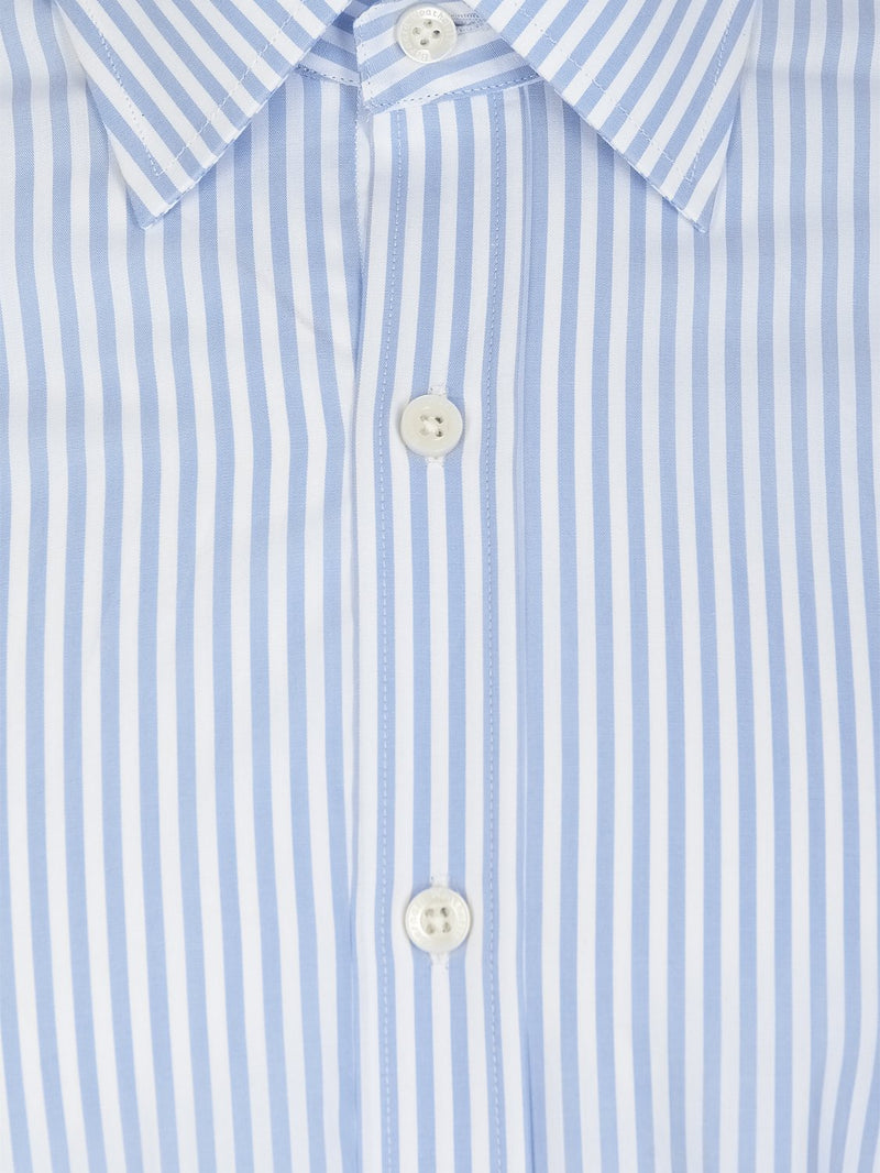 Bernard Weatherill Regular Collar Stripe - Blue/White Savile Row Gentlemens Outfitters