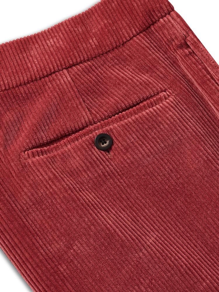 Bernard Weatherill Soft Cotton Cords Red Savile Row Gentlemens Outfitters
