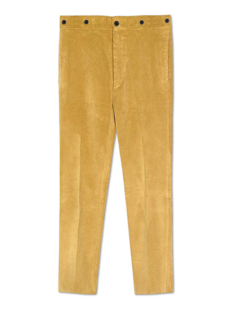 Bernard Weatherill Soft Cotton Cords Yellow Savile Row Gentlemens Outfitters