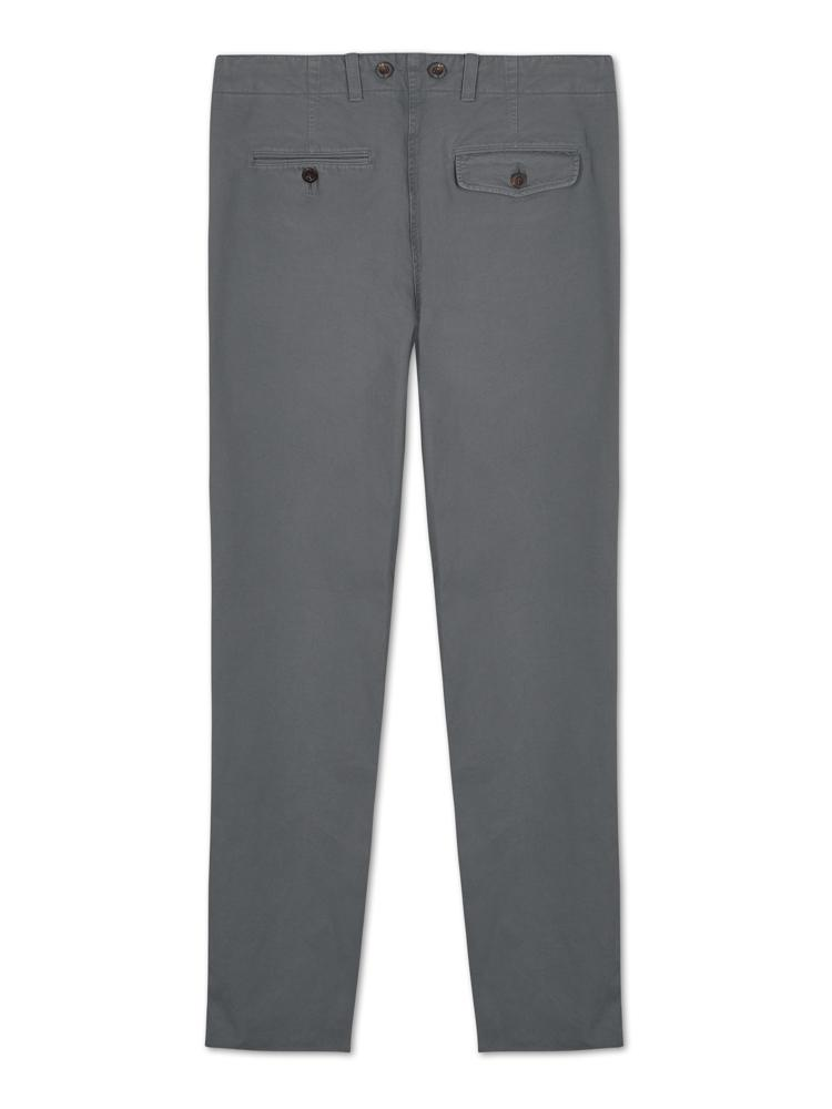 Bernard Weatherill Washed Cotton Chino Grey Savile Row Gentlemens Outfitters