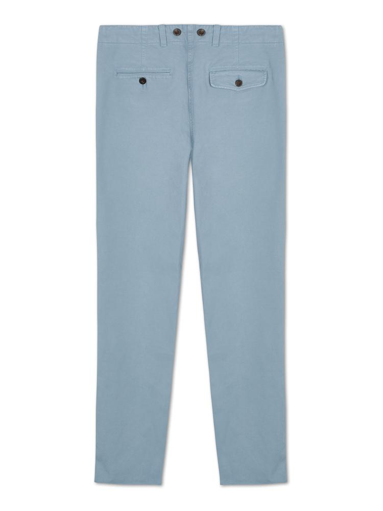 Bernard Weatherill Washed Cotton Chinos Pale Blue Savile Row Gentlemens Outfitters