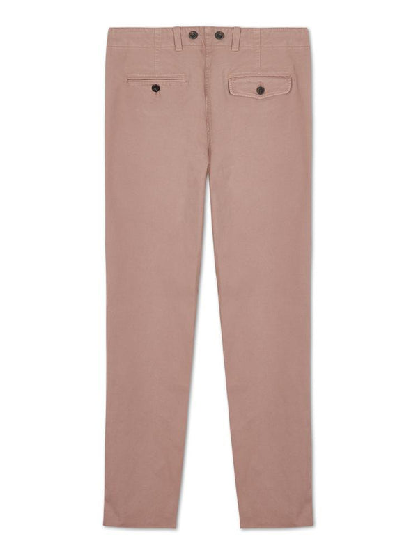 Bernard Weatherill Washed Cotton Chinos Pale Pink Savile Row Gentlemens Outfitters