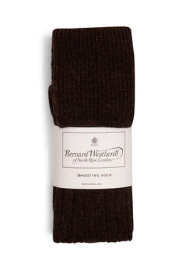 Bernard Weatherill Wool Shooting Sock Chestnut Savile Row Gentlemens Outfitters