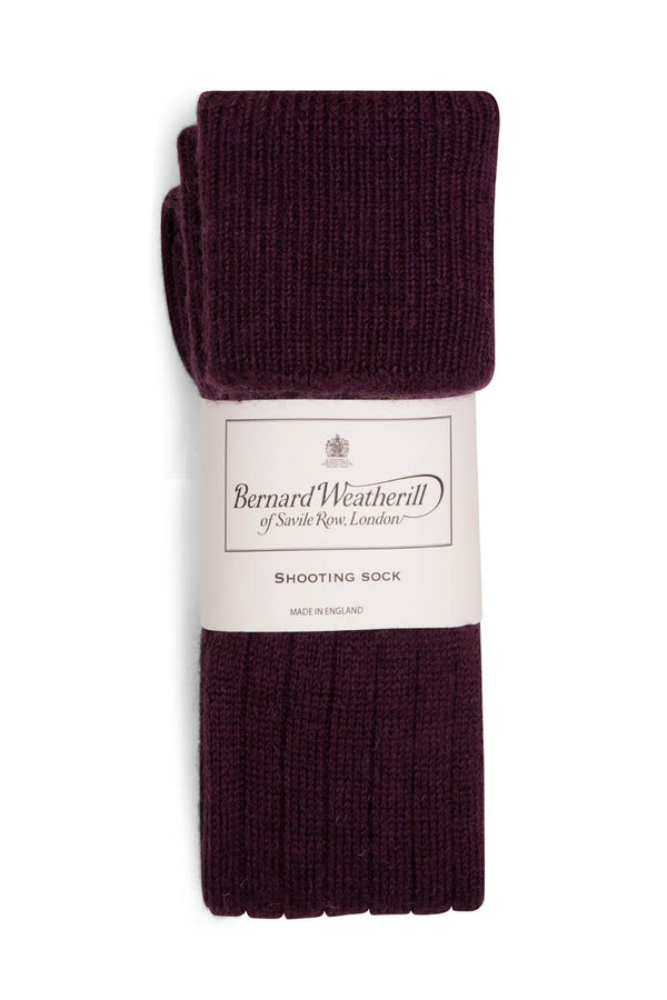 Bernard Weatherill Wool Shooting Sock Foxglove Savile Row Gentlemens Outfitters