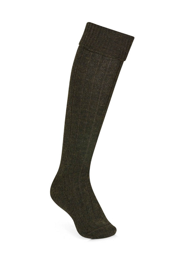 Bernard Weatherill Wool Shooting Sock Loden Green Savile Row Gentlemens Outfitters