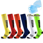 Anti Fatigue Unisex Compression Socks - 6 Packs + Free 5 Disposable Mask