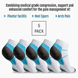 5 Pairs of Compression Plantar Socks