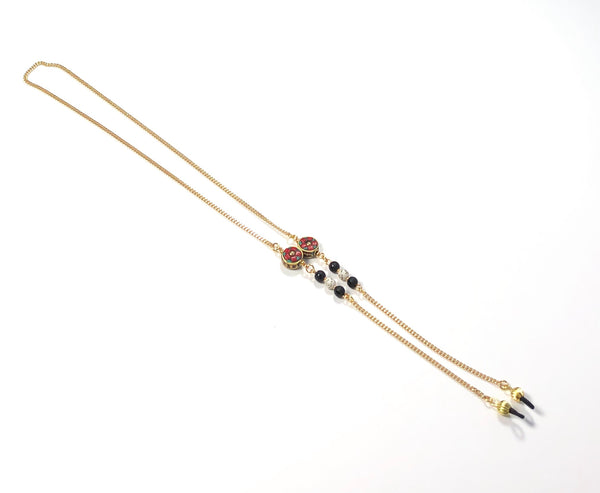 ONYX GOLD EYEGLASS CHAIN