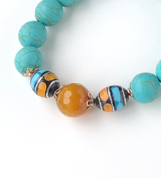 YELLOW AGATE BRACELET