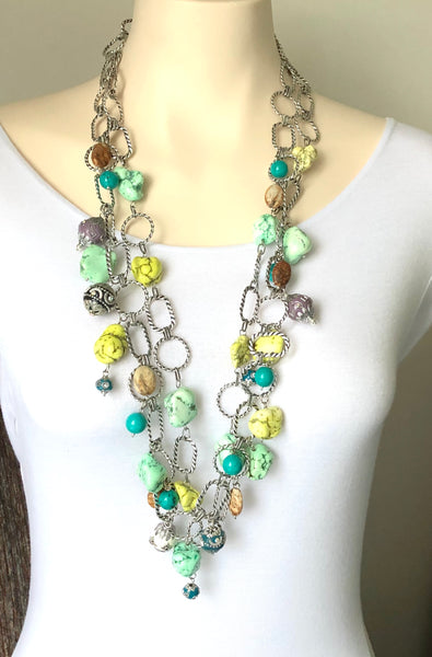 Multicolour turquoise necklace