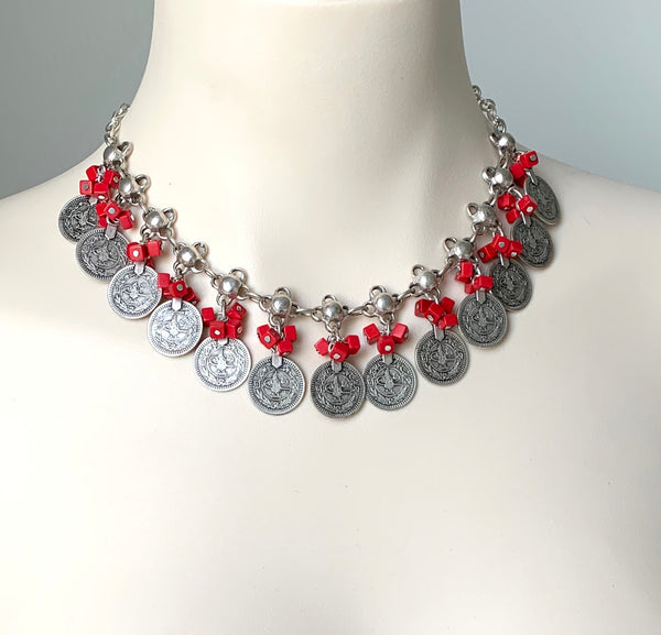 CHROME STATEMENT NECKLACE