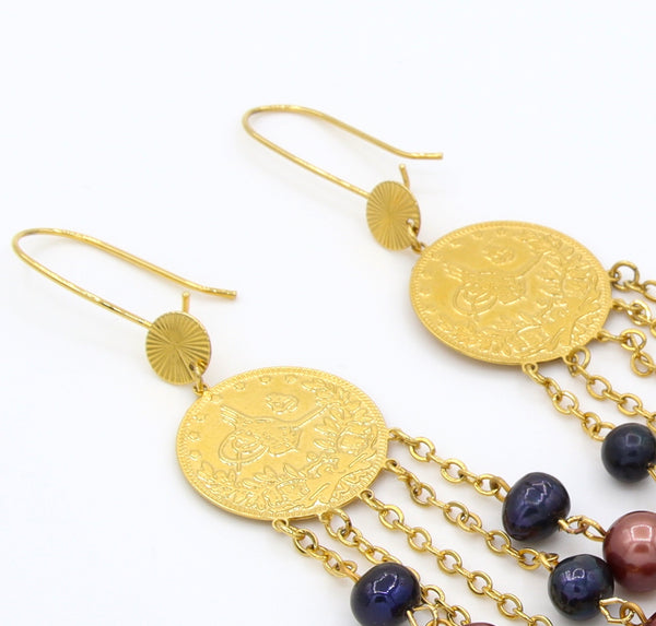 STATEMENT GOLD PEARL HANDMADE EARRINGS