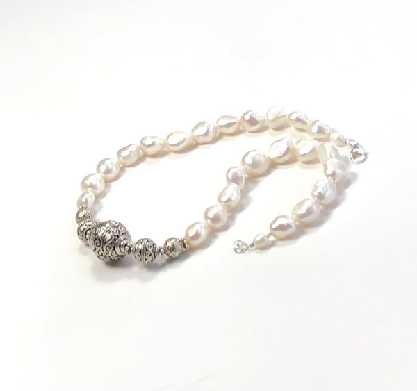 PEARL ANTIQUE SILVER NECKLACE