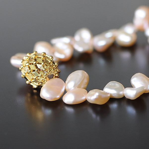 PEARL GOLD STRETCH BRACELET