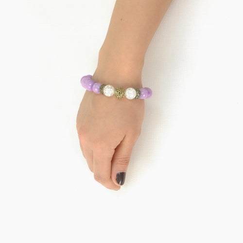 PURPLE AGATE BRACELET
