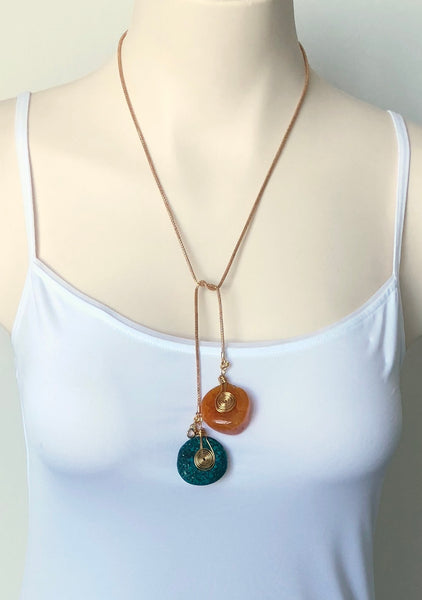 TWO COLOUR AGATE NECKLACE