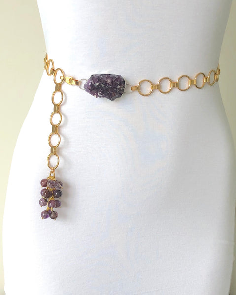 AMETHYST GOLD BELT