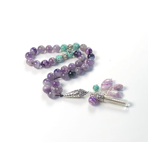 TASBIH PURPLE STERLING SILVER
