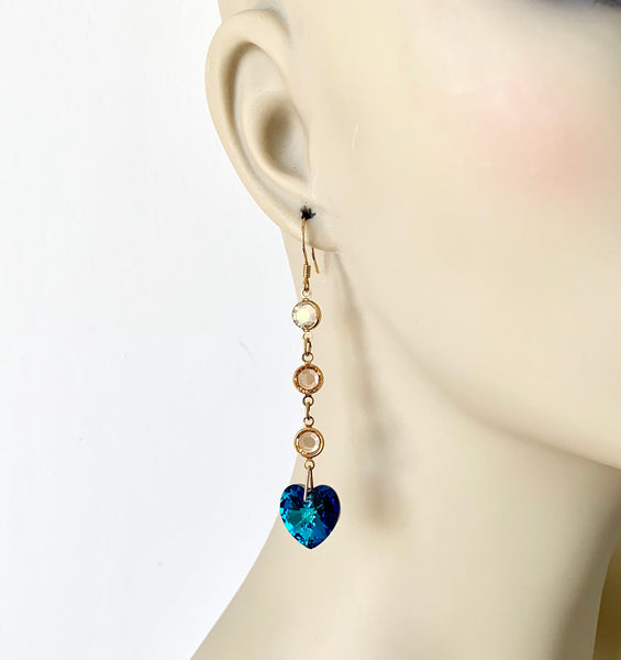 ROYAL BLUE CRYSTAL EARRINGS