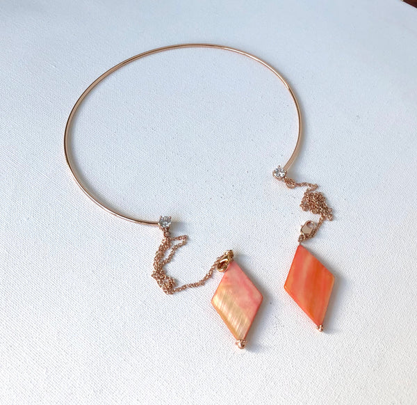 ROSE GOLD HOOP NECKLACE