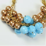 BLUE STATEMENT NECKLACE