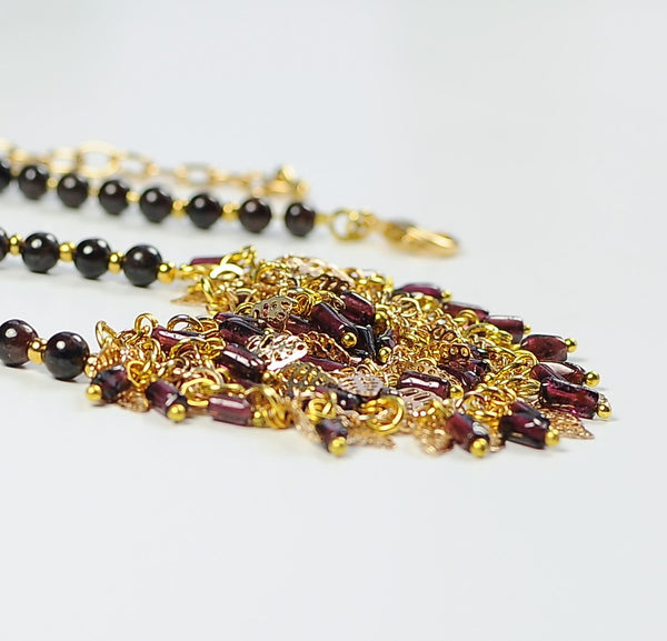 GARNET DROP NECKLACE