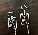 DANGLE PEARL SILVER HANDMADE EARRINGS
