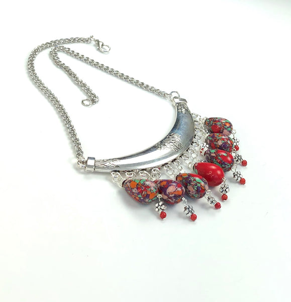 JASPER SILVER NECKLACE