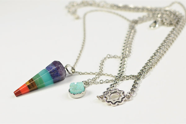 CHAKRA NECKLACE SILVER