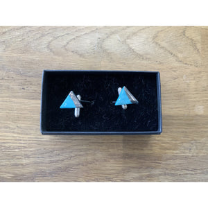 Cufflinks - Silver Dipped - Siop y Pethe