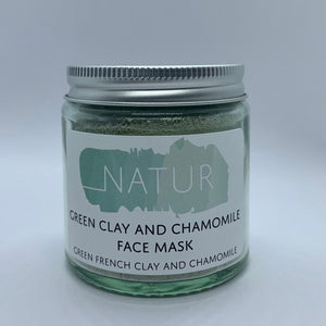 Natur - Green Clay and Chamomile Face Mask - Siop y Pethe