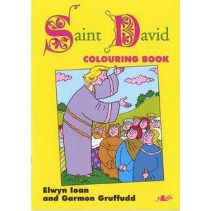 Welsh Heroes Colouring Book - Saint David