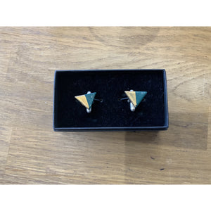 Cufflinks - Gold Dipped - Siop y Pethe