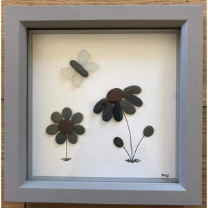 Sea Glass Butterfly Frame