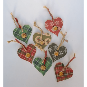 Wooden Christmas Heart - Siop y Pethe