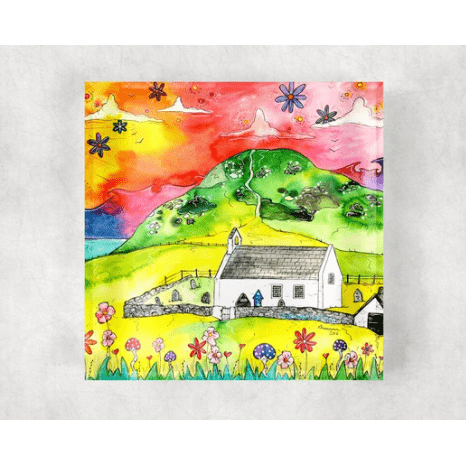 Glass Coaster - Mwnt Sunset - Siop y Pethe