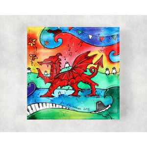 Glass Coaster - Welsh Dragon - Siop y Pethe
