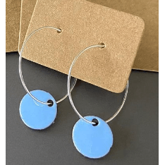 Eli-Gant Jewellery - Blue Circle Hoop Earrings
