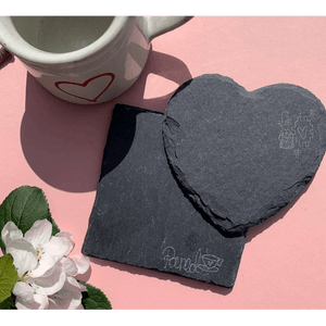 Slate Coasters - Hearts and Squares