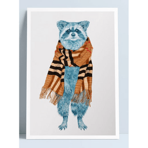 Couture Bandits Raccoon Scarf - Print A4