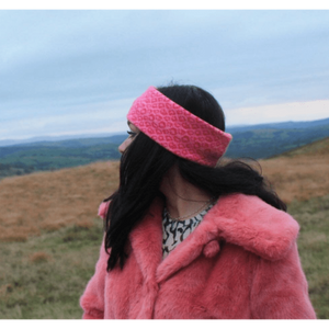 ALIS KNITS Headband - Pink Leopard - Siop y Pethe