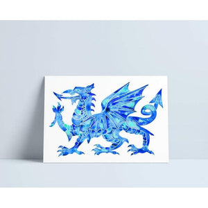 Welsh Dragon- Blue