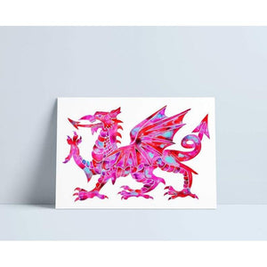 Welsh Dragon- Pink
