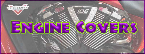 Victory & Indian Motorcycle Engine Covers, Derby, Cam, Clutch Arm, Oil Cooler, Cheese Wedges, Cam Adjuster, Horn Covers
