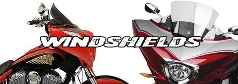 Victory & Indian Motorcycle Windshields, Windscreens, Wind Deflectors, Hardware & Dash Bags