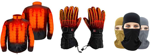 heated motorcycle gear, gaitor, balaclava, heated gloves, Pants, Jackets, Socks