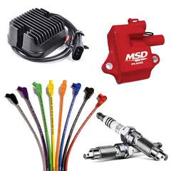 Victory, Indian motorcycle Ignition, Ignition coils, spark plug wires, spark plugs, voltage regulator