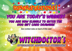 Witchdoctors.com contest card gift card giveaway rules
