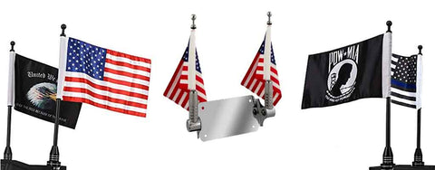 Motorcycle flags, specialty flags, Flag mounts, Victory, Indian, American flags, POW flags