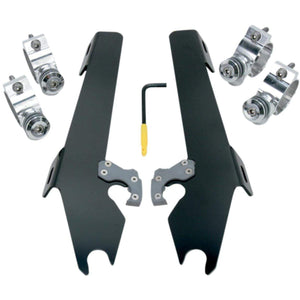 Parts Unlimited Windshield Hardware Batwing Fairing BlackTrigger Lock Mount Kit by Memphis Shades MEK1930